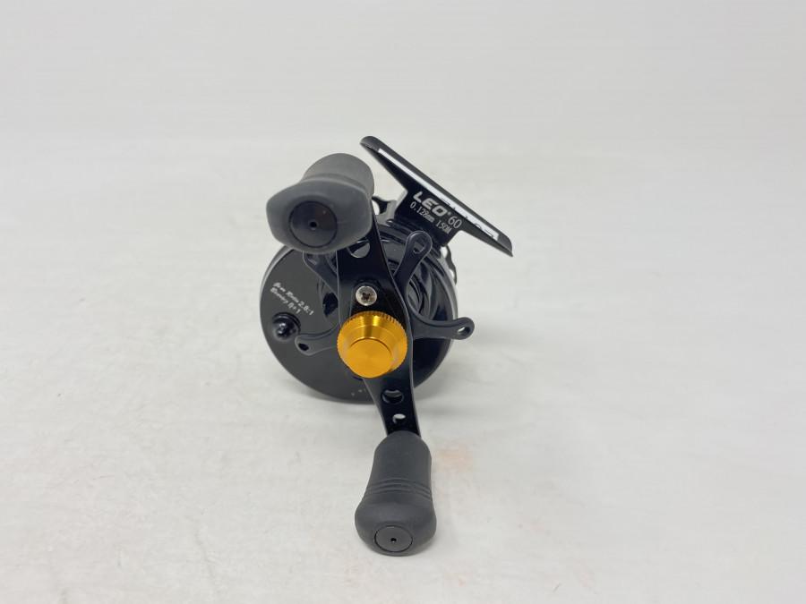 Vertikalrolle, Leo 60, für Schnur 0,125mm 150m, Ratio 2,8 . 1, Linkshand, neu