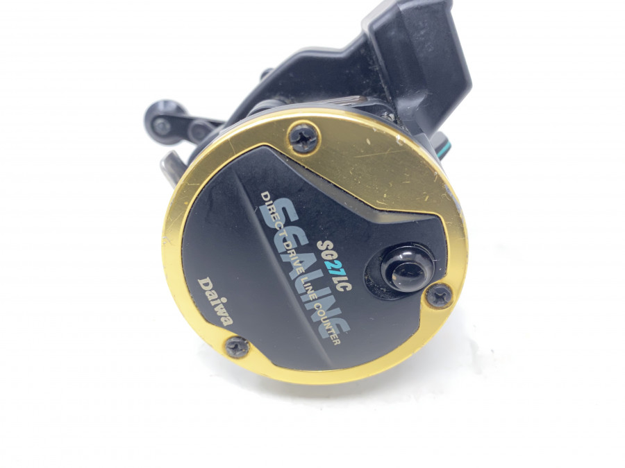 Multirolle, Daiwa SG27LC, Sealine Direct Drive Line Counter, Meterzählwerk, Rechtshand, mit Schnur, leichte Gebrauchsspuren