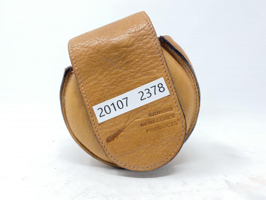 Fliegenrollentasche, Leder , von Giorgio Bennecchi, Italien , guter Zustand