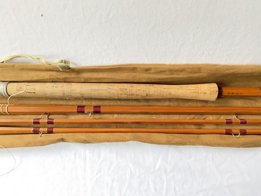 Gespliesste Lachsfliegenrute, Farlow Scottie, Impregnated. spliced, 14 Fuß, #10/11, Reservespitze, Futteral, sehr guter Zustand