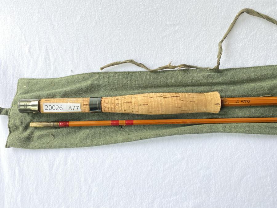 Gespliesste Fliegenrute, Hörgard, Norwegen, Modell Aura, 2tlg., 9 Fuß, #7, Futteral, guter Zustand