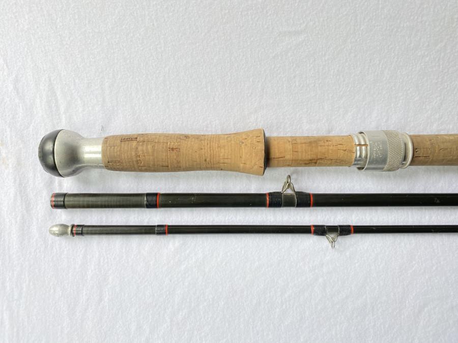 Zweihand Fliegenrute, Hardy Graphite Salmon Fly, 380cm, #9, ohne Futteral, Gebrauchsspuren