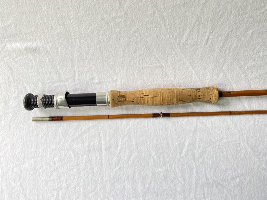Gespliesste Fliegenrute, Hardy Bro., Neo Cane, Finest, NE 2998, 2tlg., 2,60m, #6, ohne Futteral, Gebrauchsspuren
