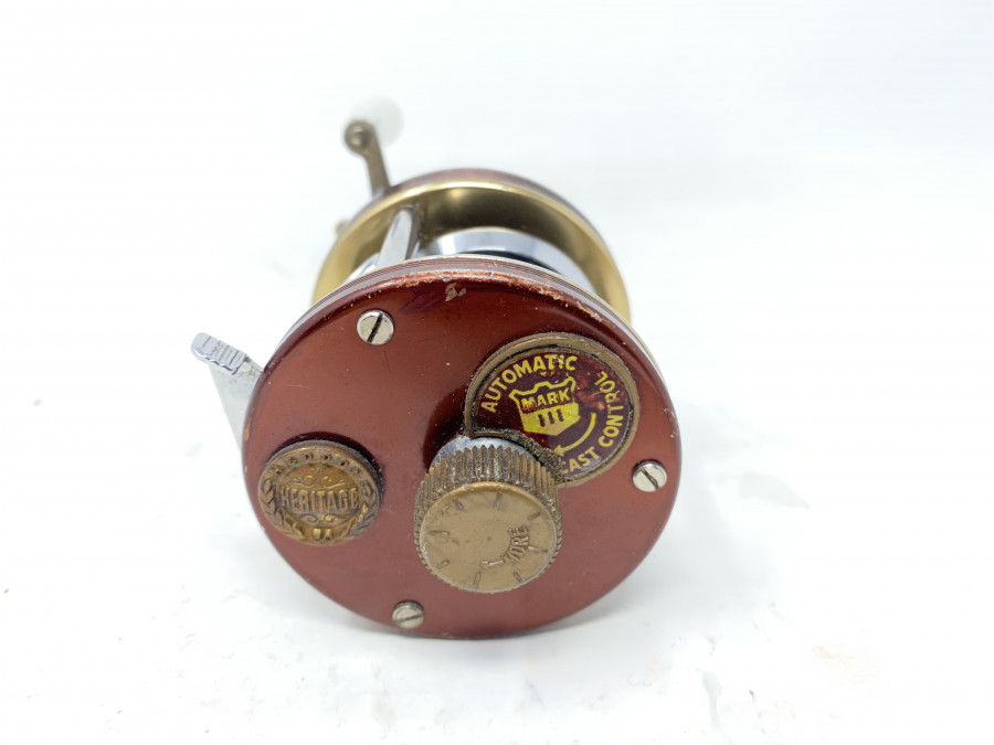 Multirolle, Heddon Heritage 39,  Automatic cast control Mark III,  Made in Sweden, Rechtshand, Gebrauchsspuren