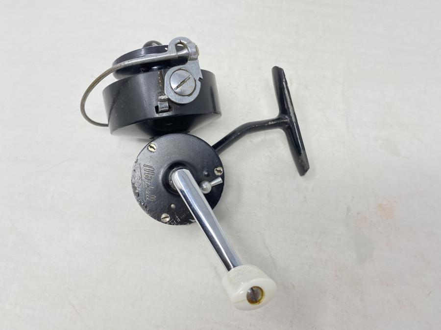 Stationärrolle, Mitchell 304, Made in France, Linkshand, Gebrauchsspuren