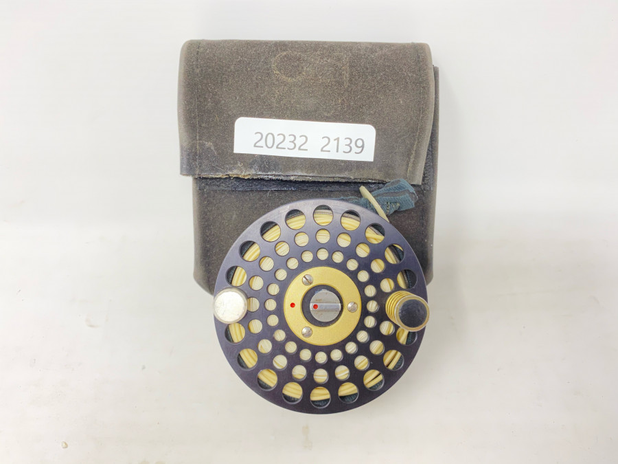 Reservespule für ATH Rolle, 78mm Aussendurchmesser x 25mm Spulenbreite, neu, mit Orvis Fliegenschnur