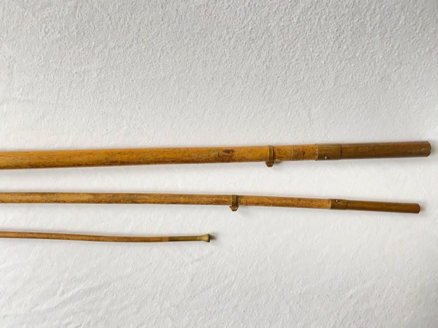 Alte Lanzenholzrute, 3tlg., 2,70m lang, interessantes Sammlerstück