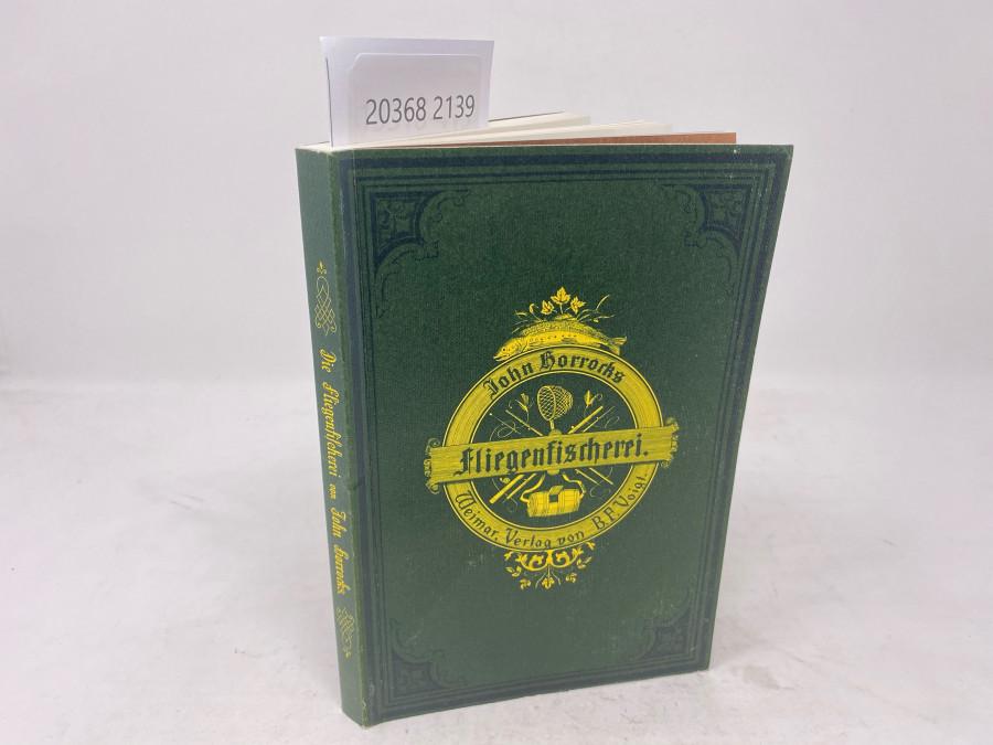 Die Kunst der Fliegenfischerei auf Forellen und Äschen, John Horrocks, Ex libris Dr. Michael Hofmaier, 1982, Paperback