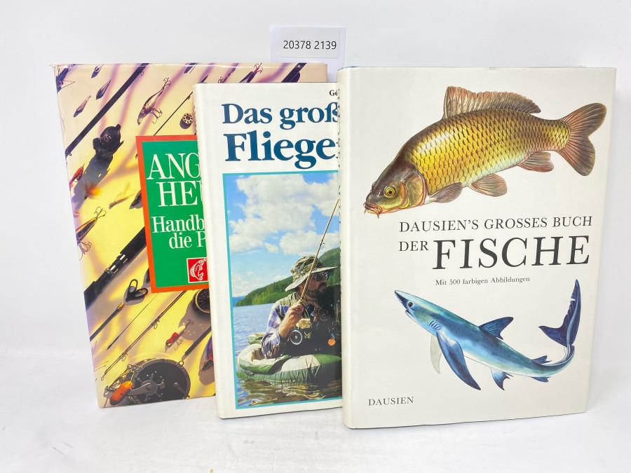 3 Bücher: Angeln Heute. Handbuch für die Praxis, Blinker; Das große Buch vom Fliegenfischen, Göran Cederberg, 1990; Dausien´s Grosses Buch der Fische, mit 500 farbigen Abbildungen, Dausien, 1987