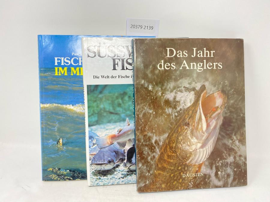 3 Bücher: Fischen im Meer, Pascal Cahroulet; Süsswasser-Fische. Die Welt der Fische in Bächen, Flüssen und Seen, Manfred Herbst, 1988; Das Jahr desAnglers, Dausien, 1980