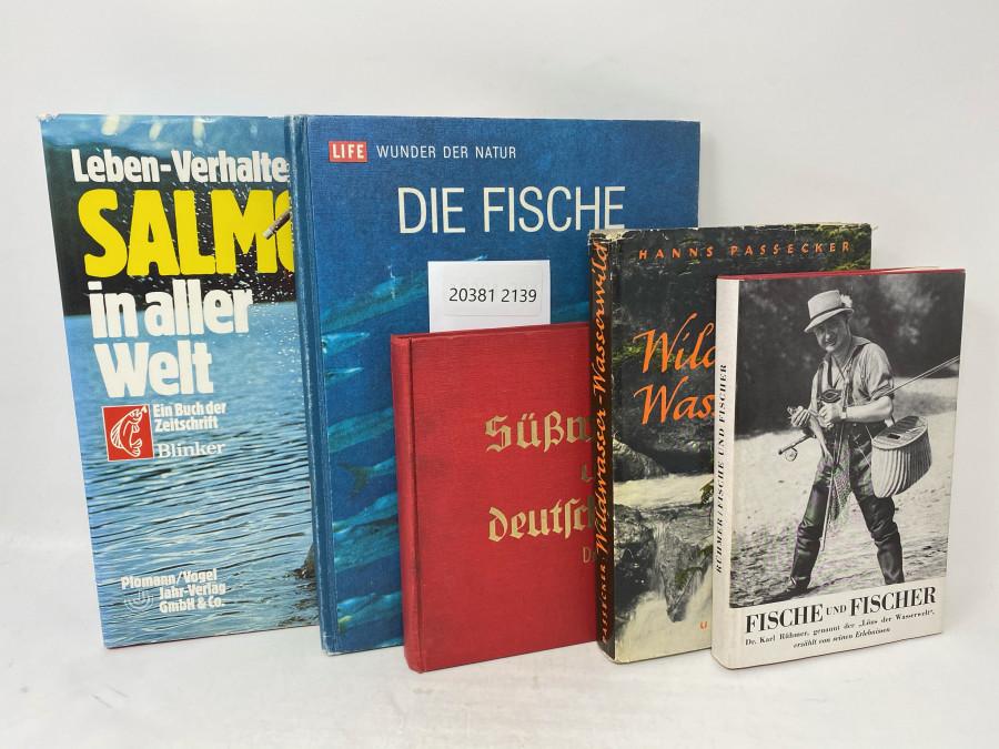 5 Bücher: Salmoniden in aller Welt, Blinker, 1987; Die Fische Life Wunder der Natur, 1973; Die Süßwasserfische unserer Deutschen Heimat, Dr. Karl Rühmer, 1. Auflage, 1 - 10.000, 1934; Wildwasser Wasserwild, Hanns Passecker, 1952; Fische und Fischer, Dr. Karl Rühmer, genannt der Löns der Wasserwelt, 2. Auflage, 1944