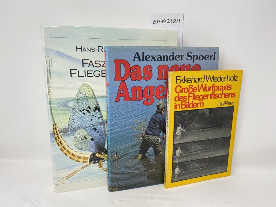 3 Bücher: Faszination Fliegenfischen, Hans-Ruedi Hebeisen, 1992; Das neue Angelbuch, Alexander Spoerl, 1977; Große Wurfpraxis des Fliegenfischens in Bildern, Ekkehard Wiederholz, 1974