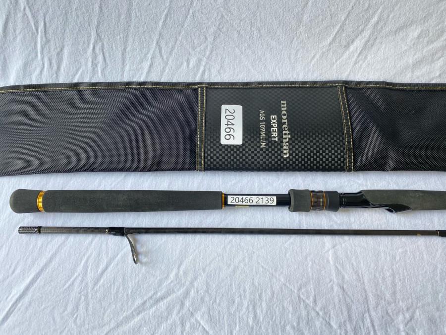 Spinnrute Daiwa morethan, Expert AGS109ML/M, Modell No. MT EX AGS109ML/M 01480337, 2tlg., 3,30m, CT WT: 7-40g, Line: 8-16lb, PE 0,8-2,0, Made in Thailand, Rutentasche, neu