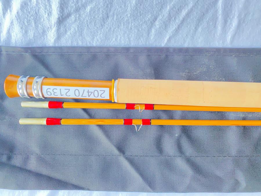 Gespliesste Fliegenrute, Ritz fly rods, 2 teilig, 2,10m Klasse, 4, 90 Gramm, Reserverspitze, Parabolische Aktion, Futteral, Alurohr, neu, MADE IN CHINA