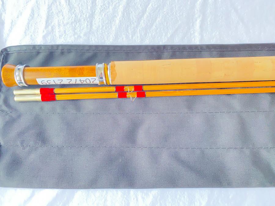 Gespliesste Fliegenrute, Ritz fly rods, 2 teilig, 2,10m Klasse 4, Reservespitze, Parabolische Aktion, Futteral, Alurohr, neu, MADE IN CHINA