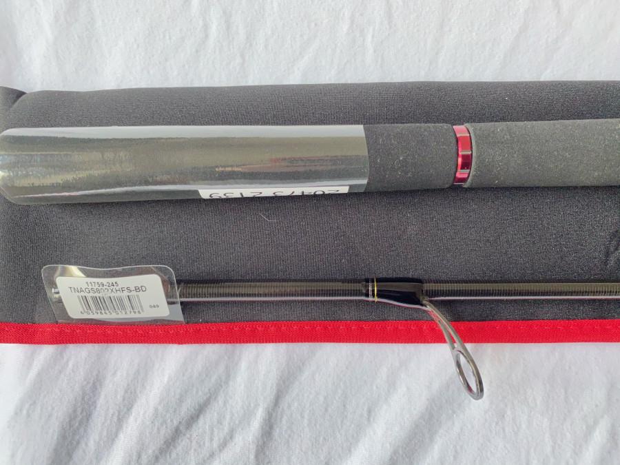 Spinnrute, Daiwa Tournament SW AGS 802XHFS, Modell No.: TNAGS802XHFS-BD, Art No. 11759-245, 2 teilig, 2,40m,  CT WT  28-64 gr., Rutentasche, neu