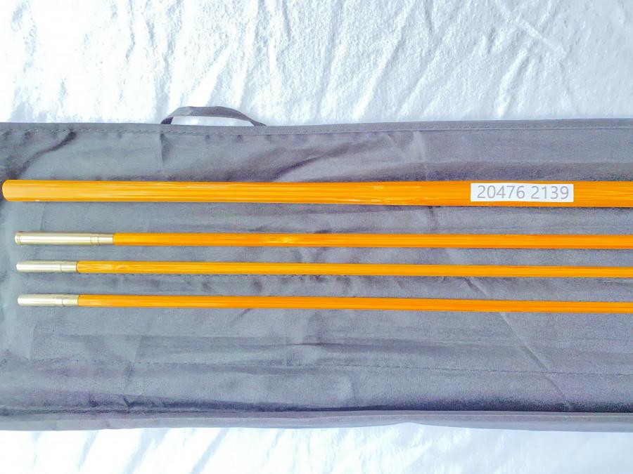 Gespliesster Zweihandruten Blank, 3tlg., 3,65m, Klasse 8/9, 235 Gramm, Reservespitze, Futteral, neu