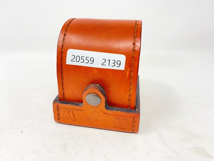 Blockleder Tasche, gefertigt von Bo Molin, Schweden, für 75mm Rollendurchmesser, 30mm Rollenbreite, sehr guter Zustand