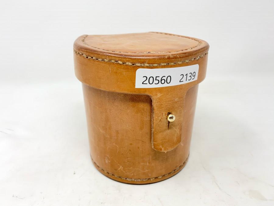 Blockleder Rollentasche, mit Schaffellfutter, für 90 mm Rollendurchmesser, 90mmRollenbreite, neu, sehr schöne Handarbeit