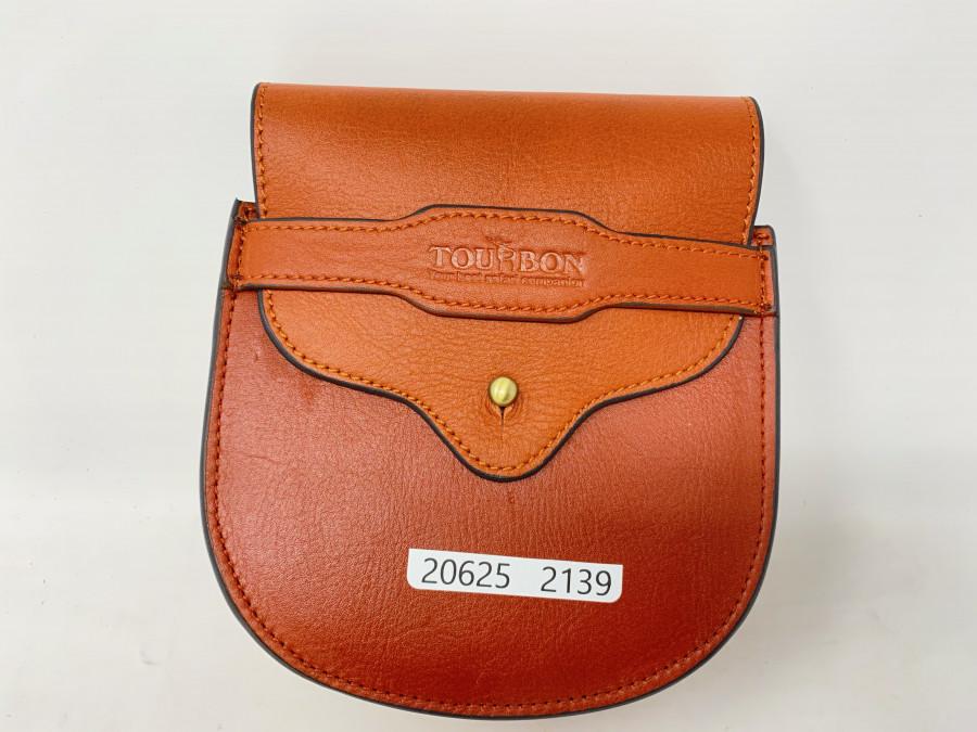 Lederrollentasche Tourbon, ideal für Centrepin Rollen, 125mm Durchmesser, neu