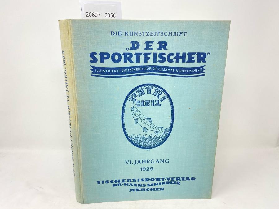 Zeitschriften: Der Sportfischer, Jahrgang 1929, Illustrierte Zeitschrift für die gesamte Sportfischerei, gebunden, guter Zustand