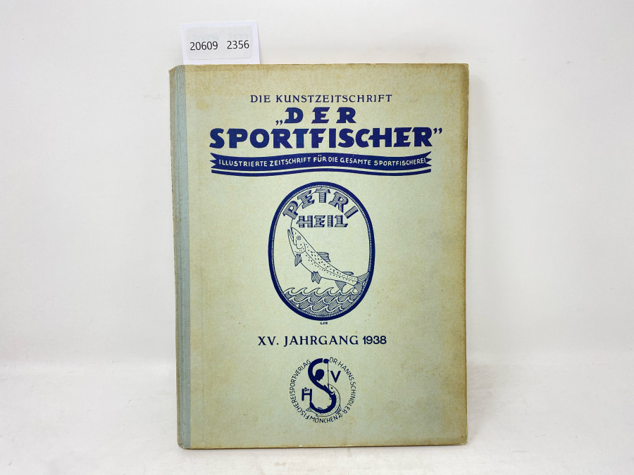 Zeitschrfiten: Der Sportfischer, Jahrgang 1938, Illustrierte Zeitschrfit für die gesamte Sportfischerei, gebunden, guter Zustand