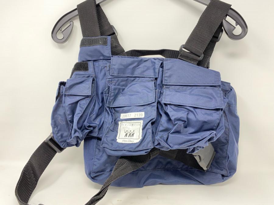 Watweste, RM - Pocket BH, mit Rückentasche. Brustweste mit Roman Moser Logo, elastische Brustgurte, neu ,