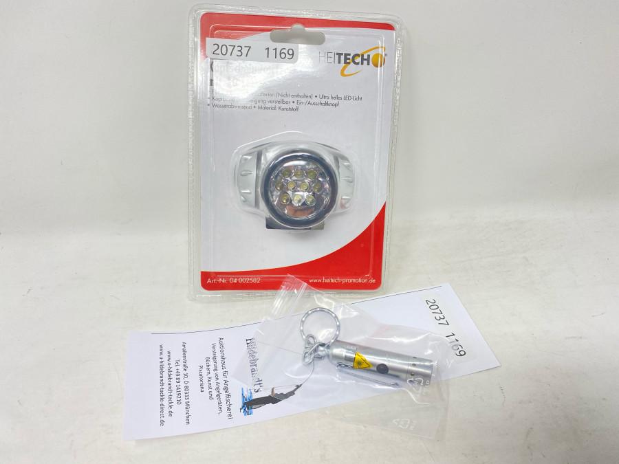 Kopfscheinwerfer von HeiTech, mit 10 LED und 1 Mini LED-Lese Lampe