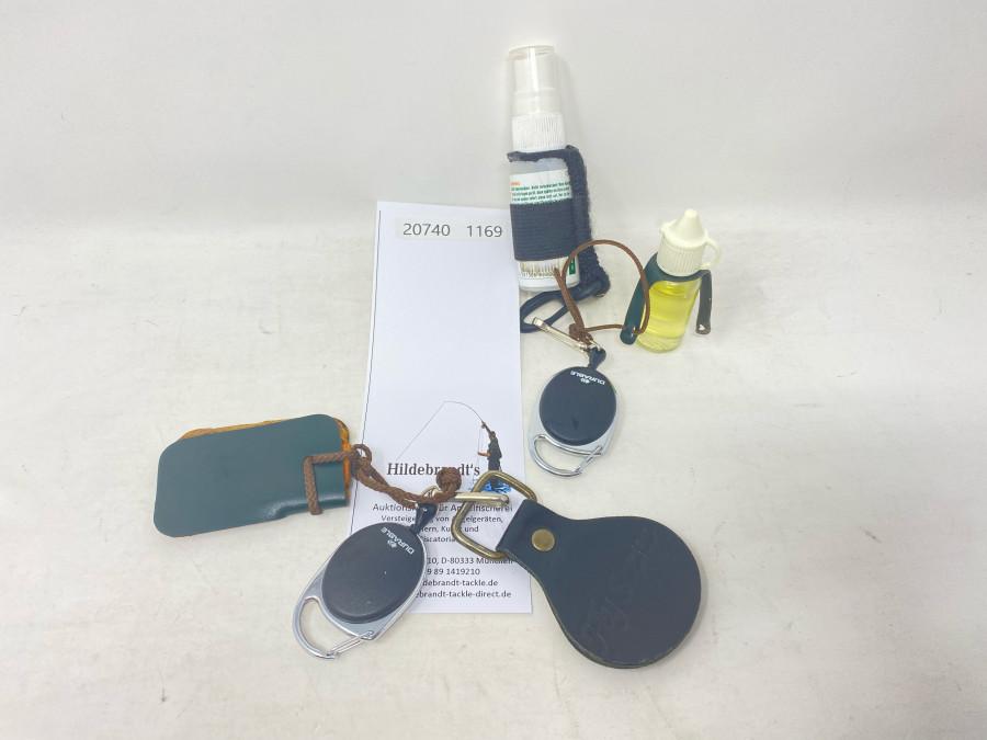 Ausziehrolle de Luxe Modell Durable mit Vorfachstrecker und Fliegentrockner, Ausziehrolle de Luxe Modell Durable mit 2 x Fliegenbehandlungsmittel