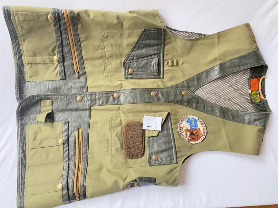 Fliegenfischerweste, Esquimau, Made in France/Paris, zahlreiche Taschen, Grösse 48, sehr guter Zustand