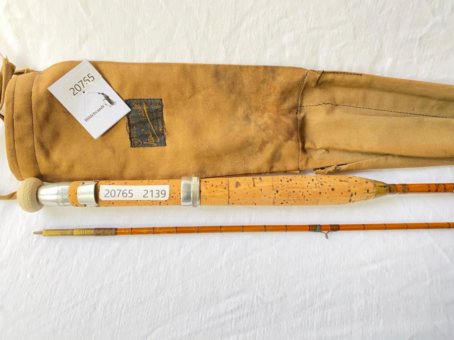 Gespliesste Fliegenrute, J.B. Walker,  Walker´s Gem Fly Rod, 2tlg. 2,60m, Klasse 7, Futteral, Gebrauchsspuren,