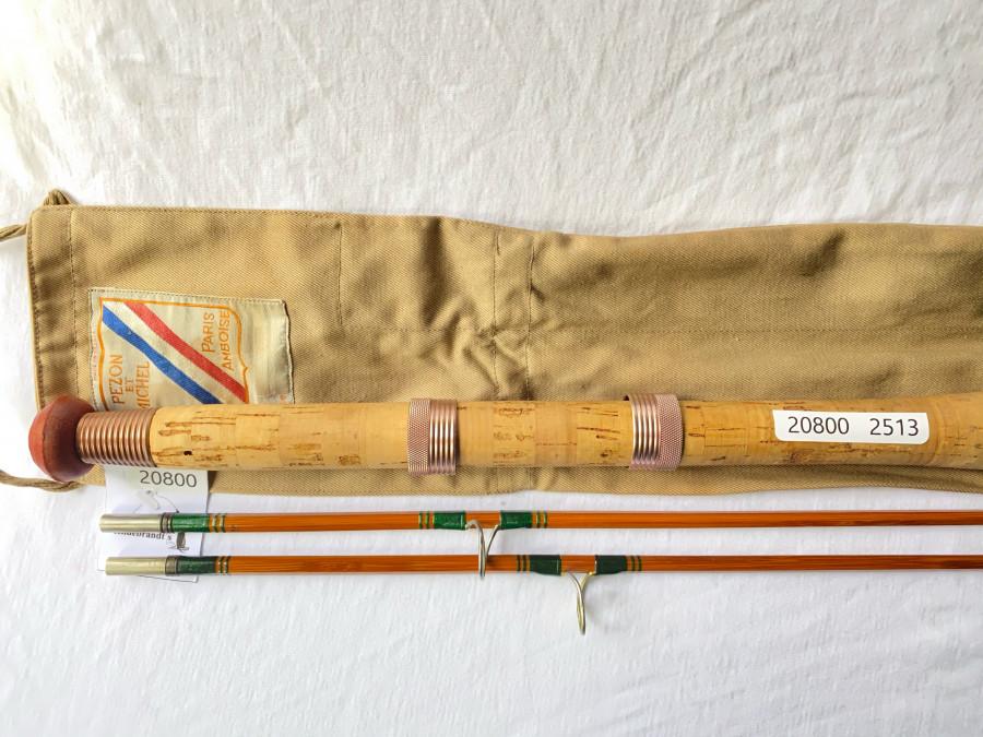 Gespliesste Spinnrute, Pezon et Michel, Luxor Super, No.52947, 2tlg., 2,20m, WG  10 - 25 Gramm, Reservespitze, sehr guter Zustand