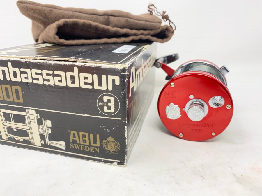 Multirolle, ABU Ambassadeur 7000, Made in Sweden, Rollenbeutel und Karton, guter Zustand
