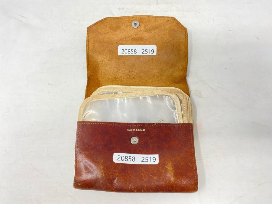 Altes Vorfach Wallet, Made in England, 6 Fächer