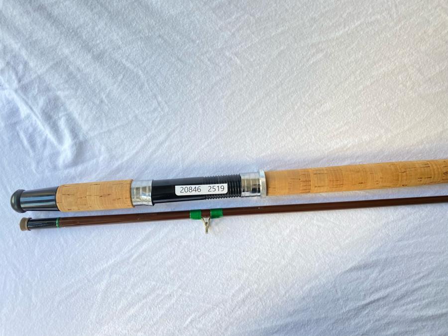 Angelrute, Hohlglas, Hardy Mooching, 2 tlg., 305cm, 1. Brückenring von Spitze gebrochen, ohne Futteral, guter Zustand