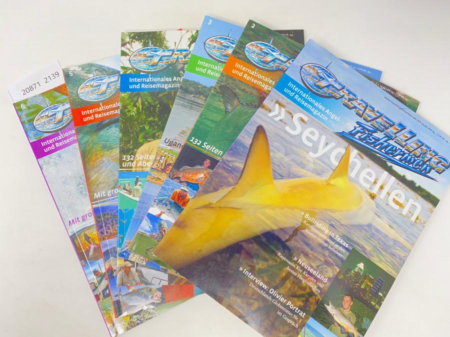 6 Ausgaben Travelling Fishermen, Internationales Angel- und Reisemagazin