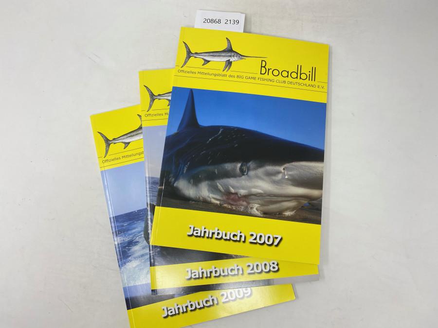3 Ausgaben Broadbill, Offizielles Mitteilungsblatt des Big Game Fishing Club Deutschland E.V. Jahrgang 2007, 2008, 2009