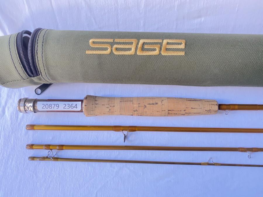 Fliegenrute Sage Launch 490-4, 4tlg., 9´, #4, Codura Transportrohr, guter Zustand