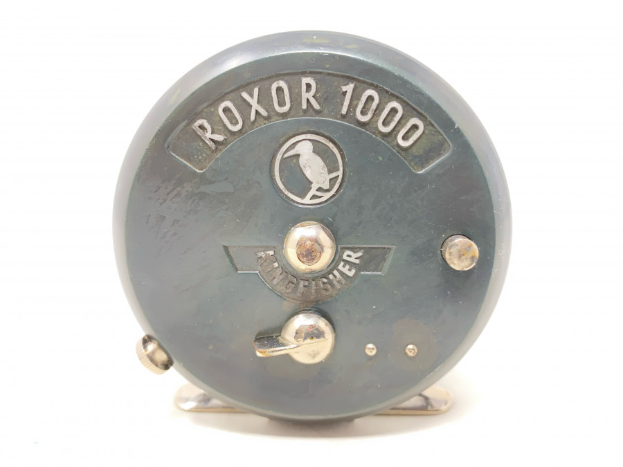 Fliegenrolle Roxor 1000, Fritz Steurer, Kingfischer, Eisvogellogo, Linkshand, toller Zustand