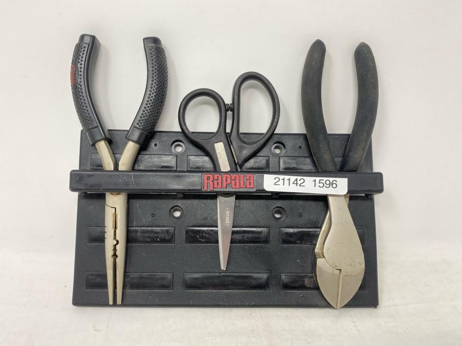 Rapala Werkzeughalter mit Magnet, Lösezange, Schere, Seitenschneider, Edelstahl, hervorragende Qualität