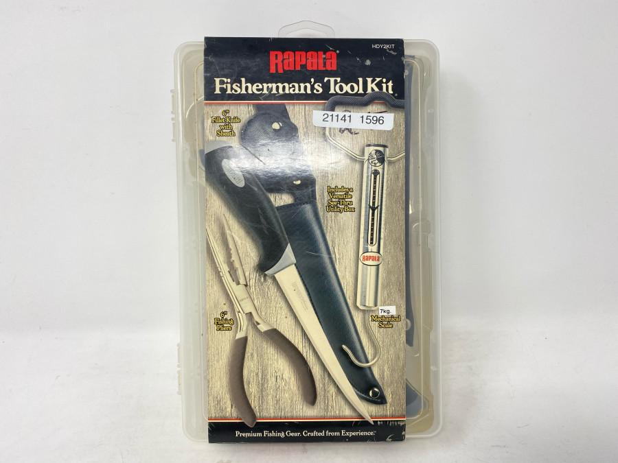 Rapala Fisherman's Tool Kit, bestehend aus Rapala Lur Tuning Tool, Federzugwaage bis 15 Pfund und Filetiermesser, hervorragende Qualität