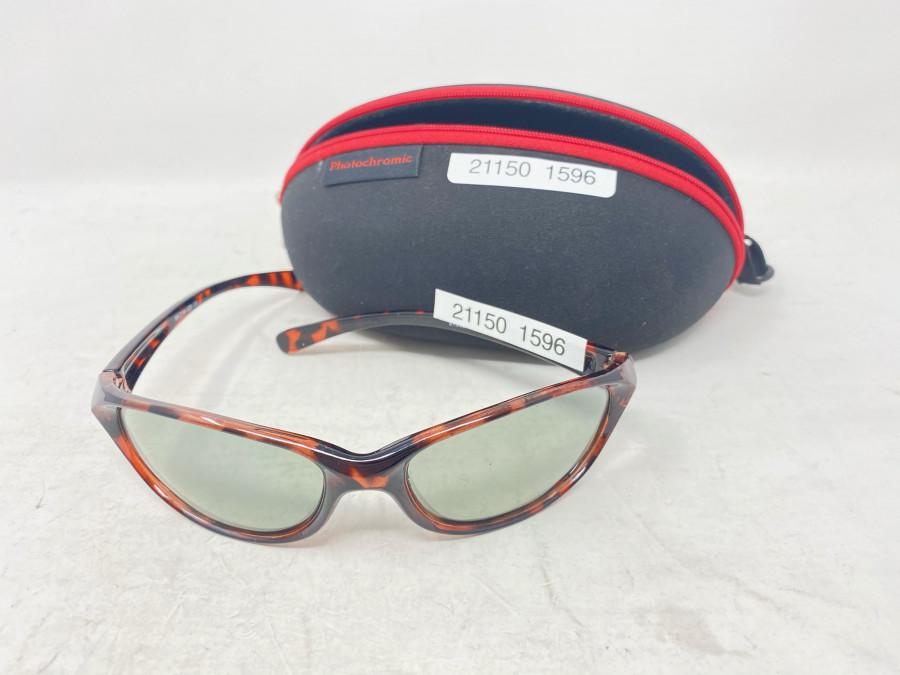 Sonnenbrille,, Photochromic, selbsttönend, Etui, neu
