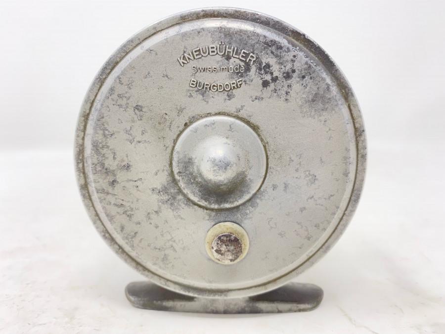 Fliegenrolle, Kneubühler, Burgdorf, Swiss Made, Klasse, 7, Vintage Finish, Gebrauchsspuren
