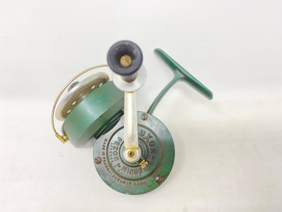 Stationärrolle, Pezon et Michel, Luxor, Made in France, Gebrauchsspuren
