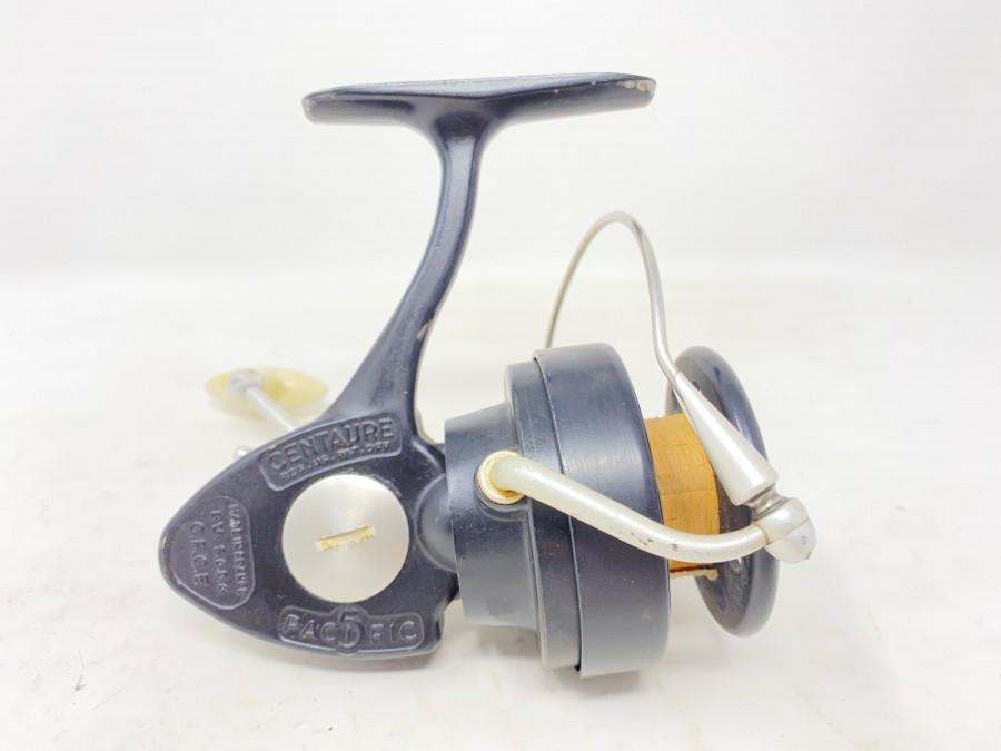 Stationärrolle, Pacific 5, Centaure, Made in France, Gebrauchsspuren