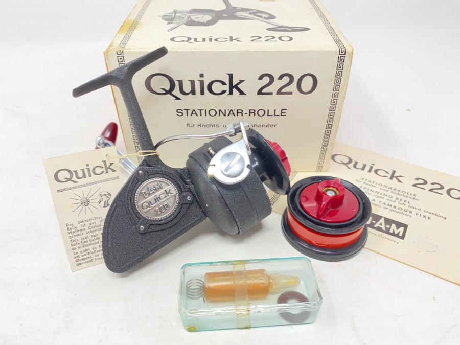 Stationärrolle, DAM Quick 220, Reservespule, Bedienungsanleitung, Ersatzteile, neu im Karton
