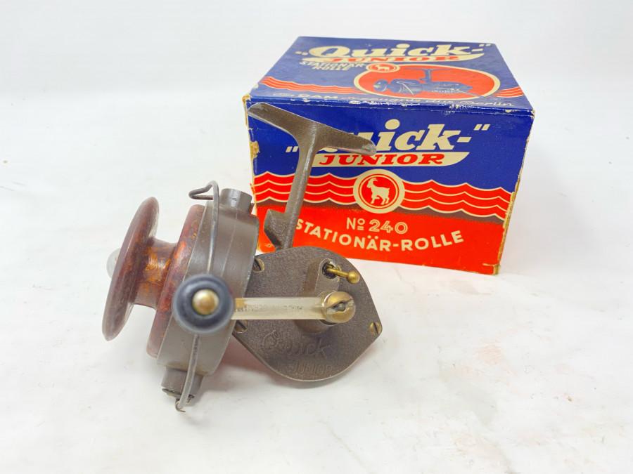 Stationärrolle, DAM Quick Junior, No. 240, Gebrauchsspuren, im Originalkarton