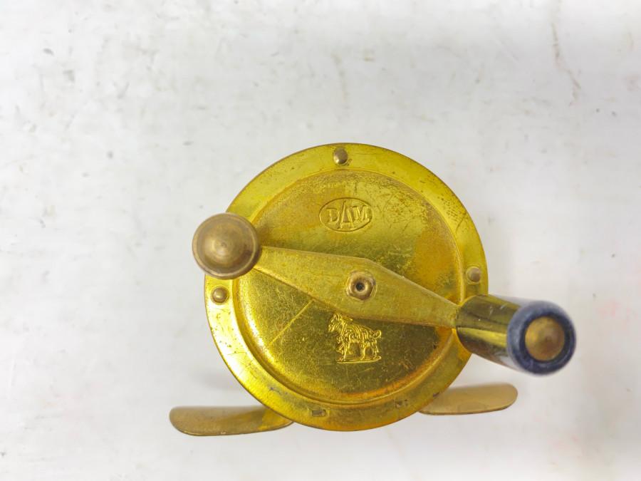 Kleine Messingrolle, DAM 085, Ziegenbock Logo auf Vorder- und Rückseite, Gebrauchsspuren