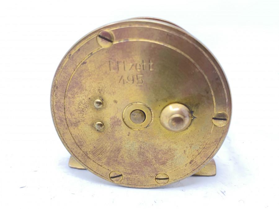 Kleine Messingrolle, DAM Effzet 495, Knarre ausschaltbar, Rollendurchmesser 60mm, 30mm Rollenbreite, Gebrauchsspuren