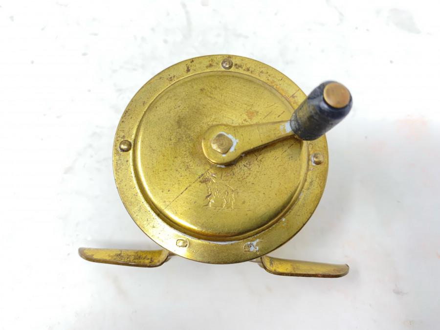 Kleine Messingrolle, DAM, Ziegenbock Logo auf Vorderseite, Rollendurchmesser 50mm, Rollenbreite 25mm
